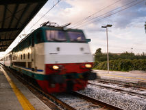 Railway station of a small Italian town Royalty Free Stock Image