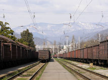 Railway Station of Sochi Stock Photos