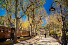 Railway station in Soller Royalty Free Stock Image
