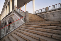 Railway station stairs in Orel, Russia Royalty Free Stock Photos