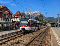 Railway station in Stans, Switzerland Royalty Free Stock Images