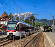 Railway station in Stans, Switzerland Stock Photography