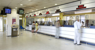 Railway station ticket office Stock Photo