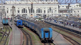 Railway station time-lapse in Odessa, Ukraine. (Full HD stock footage