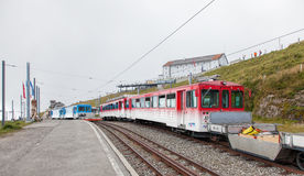 Railway station on the top of Mt. Rigi Royalty Free Stock Image