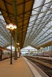 Railway station, Tours. Old modern style railway station in Tours, Pays-de-la-Loire,, France Stock Image