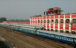 Railway Station. A train at Kharagpur  Railway Station, India Stock Photography