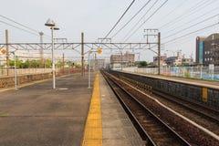 Railway station transportation, business transport by train. Stock Photo