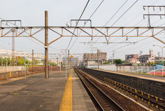 Railway station transportation, business transport by train. Royalty Free Stock Photo