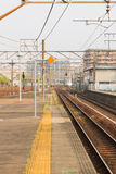 Railway station transportation, business transport by train. Royalty Free Stock Photos