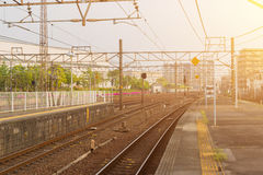 Railway station transportation, business transport by train. Stock Photography