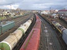 Railway station. Transportation Stock Photo