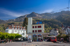 Railway station for trip to mount Rigi Royalty Free Stock Images