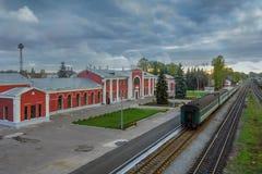 Railway station Velikie Luki, Russia Royalty Free Stock Image