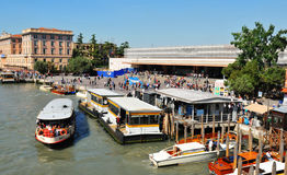Railway station in Venice, Italy royalty free stock images