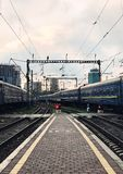 Railway station. View of the railway station Stock Images