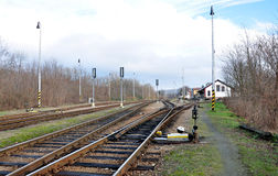 Railway station, Village - Moravske Branice, Czech Republic, Europe Stock Image