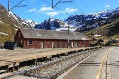 The railway station in the village of Myrdal Royalty Free Stock Photos