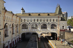 Railway station in Vladivostok. Russia.  royalty free stock photography