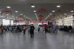 Railway station waiting room(Xiangyang, hubei,china) Stock Photography