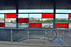 Railway station Warsaw Stadion Royalty Free Stock Image