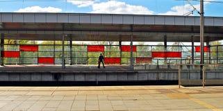 Railway station Warsaw Stadion Stock Photography