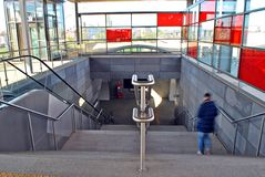 Railway station Warsaw Stadion Stock Photo