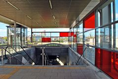 Railway station Warsaw Stadion Royalty Free Stock Photography