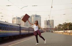 Railway station Stock Photos