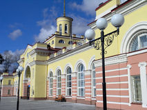 Railway station Yoshckar-Ola Russia. The entrance to a main railway station in Yoshckar-Ola city Russia Stock Photography