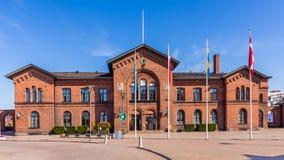Railway station in Ystad Stock Photo