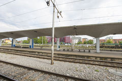 Railway station at Zagreb, Croatia Stock Photo