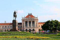 Railway station Zagreb. King Tomislav square and statue, summer in the city, landscape Stock Images