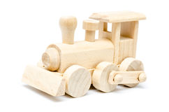 Railway Steam Engine Wooden Toy Stock Photography
