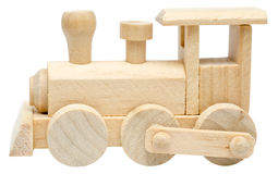 Railway Steam Engine Wooden Toy stock images