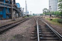 Railway steel factory Royalty Free Stock Images
