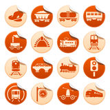Railway stickers stock illustration