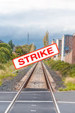 Railway strikers Royalty Free Stock Photos