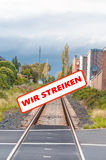 Railway strikers Stock Photos