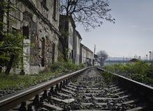 Railway in suburbia Royalty Free Stock Image