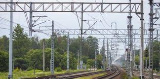 Railway in summer Stock Photos