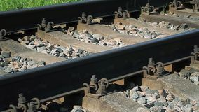 Railway in summer stock video footage