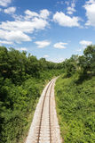 Railway in summer nature Royalty Free Stock Image