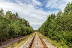 Railway in summer Royalty Free Stock Photos