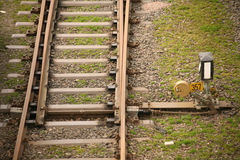 Railway switch Stock Images