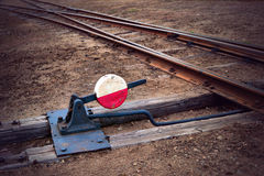 Railway switch Stock Photography
