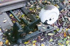 Railway switch actuator Stock Image