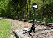 Railway switch Stock Photo