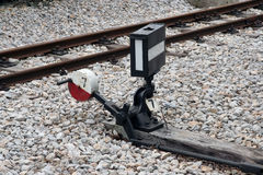 Railway switch Royalty Free Stock Image