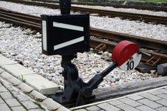 Railway switch royalty free stock photos